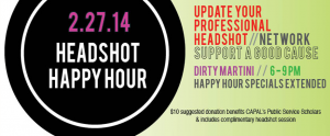HeadshotHappyHourWebsite 300x124 Back by Popular Demand: CAPAL Headshot Happy Hour!